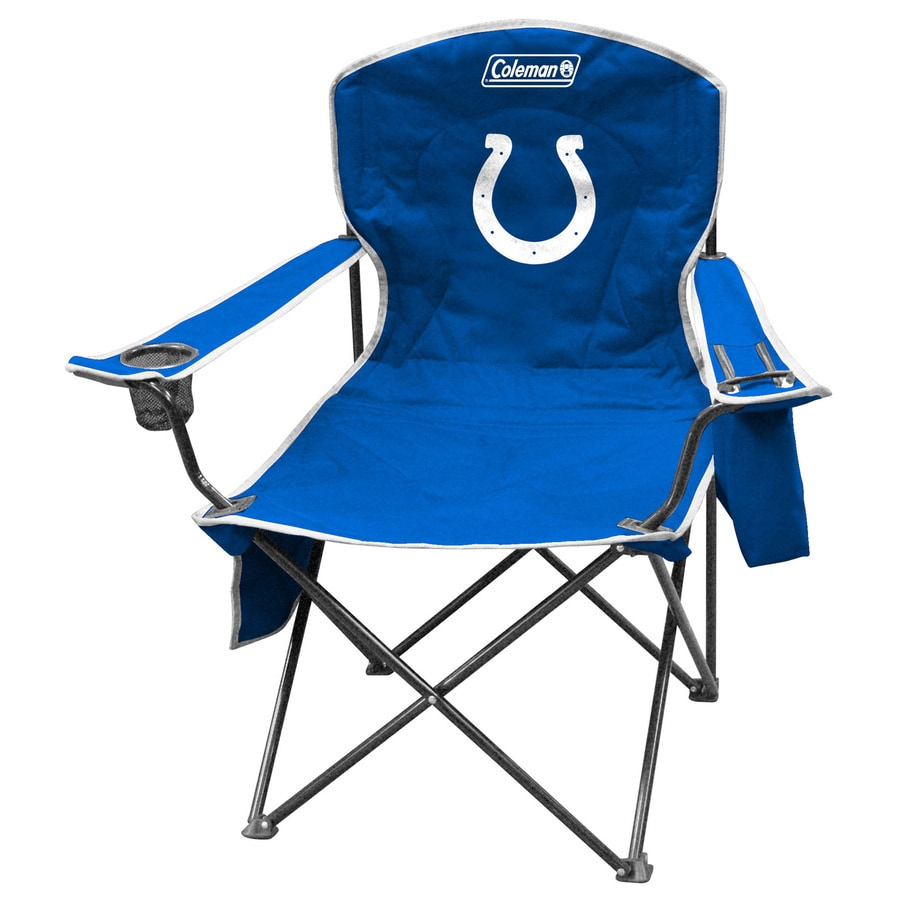 Colts bathroom decor - Coleman Nfl Indianapolis Colts Steel Chair