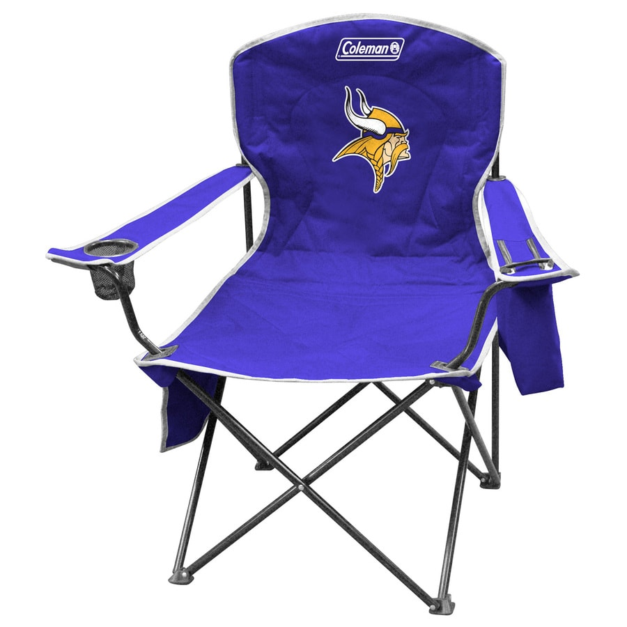 Coleman NFL Minnesota Vikings Steel Chair  sc 1 st  Loweu0027s & Shop Coleman NFL Minnesota Vikings Steel Chair at Lowes.com