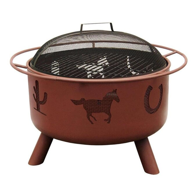 Landmann Usa Big Sky 29 5 In W Georgia Clay Steel Wood Burning Fire Pit In The Wood Burning Fire Pits Department At Lowes Com