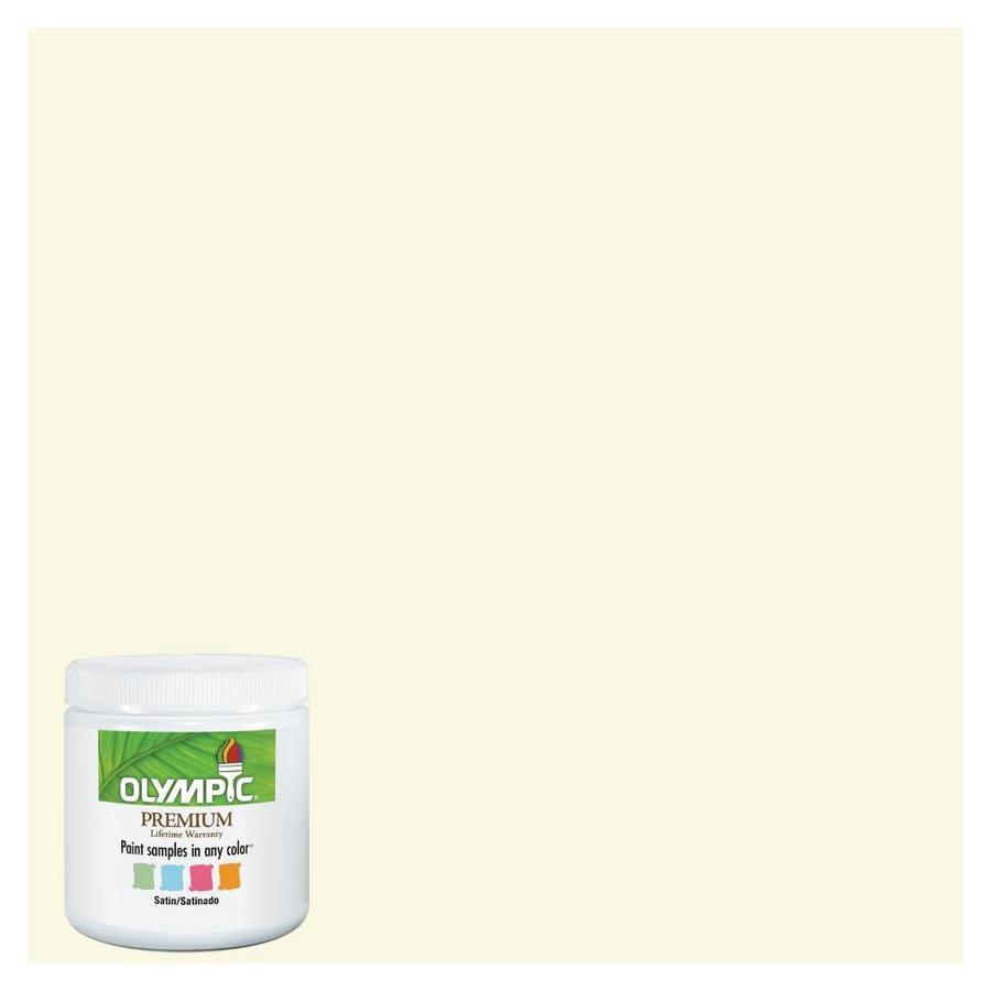 Olympic 8 Oz Creamy White Interior Satin Paint Sample