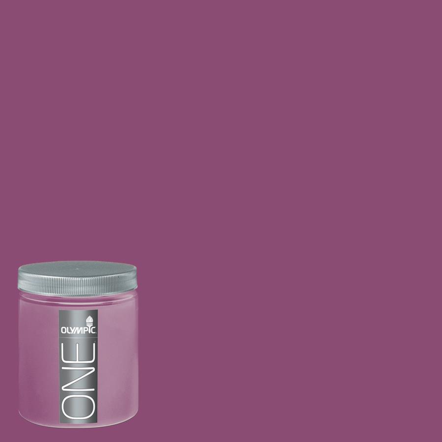 Olympic 8-oz Mom's Lipstick Interior Satin Paint Sample