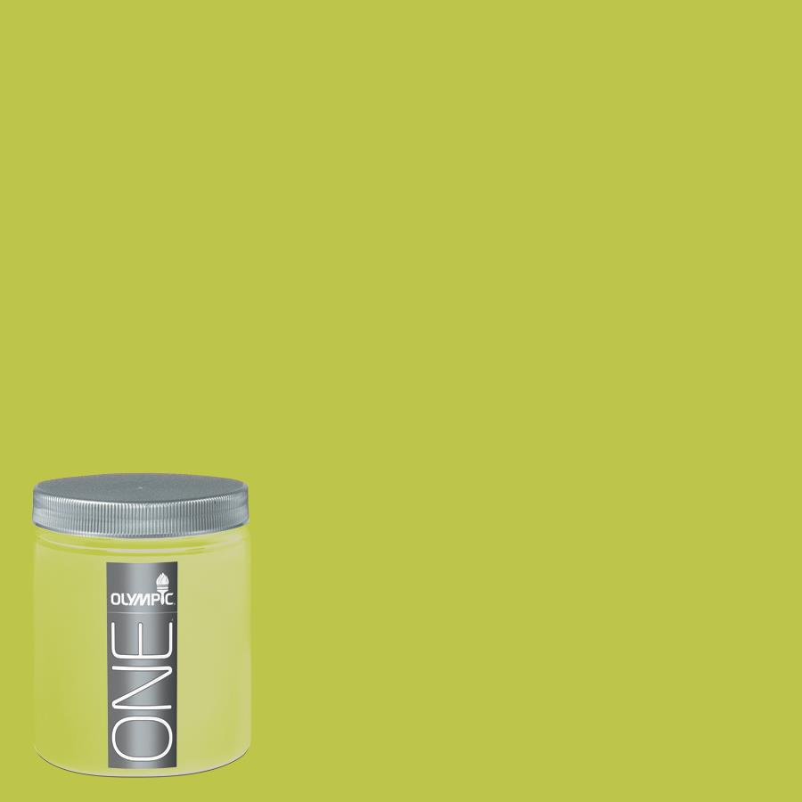 Olympic 8-oz Lemon Grass Interior Satin Paint Sample