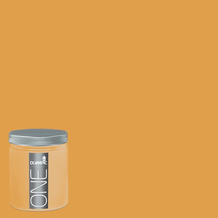 Olympic 8-oz Brass Mesh Interior Satin Paint Sample