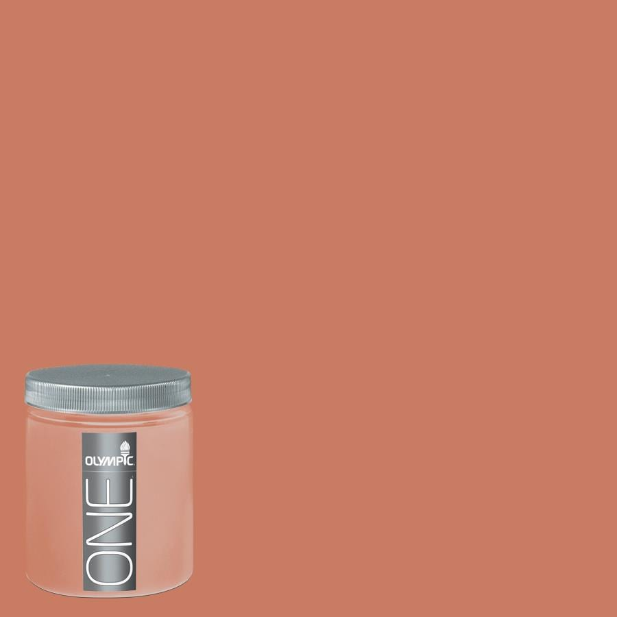 Olympic 8-oz Tomato Bisque Interior Satin Paint Sample