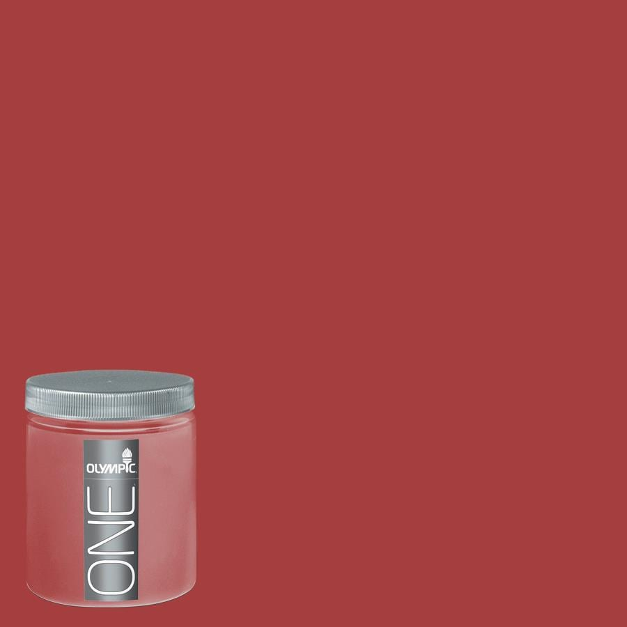 Shop Olympic 8 Oz Red Gumball Interior Satin Paint Sample