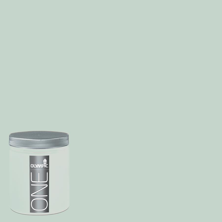 Olympic 8-oz Geyser Interior Satin Paint Sample