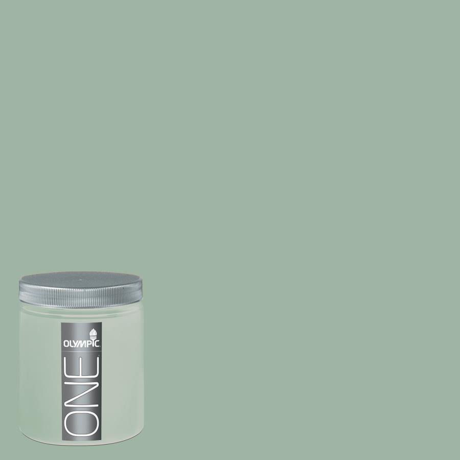 Olympic 8 Oz Silver Leaf Interior Satin Paint Sample