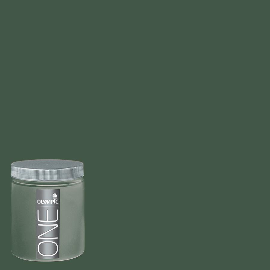 Olympic 8-oz Royal Hunter Green Interior Satin Paint Sample