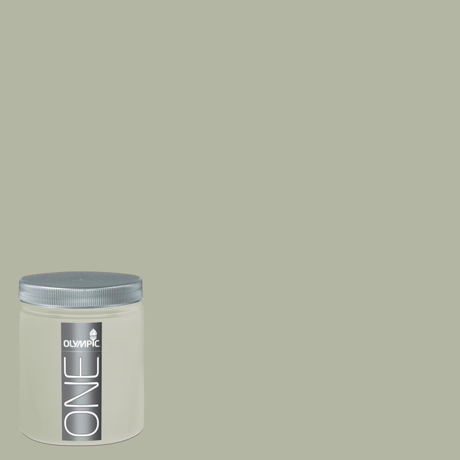 Olympic 8 Oz Light Sage Interior Satin Paint Sample
