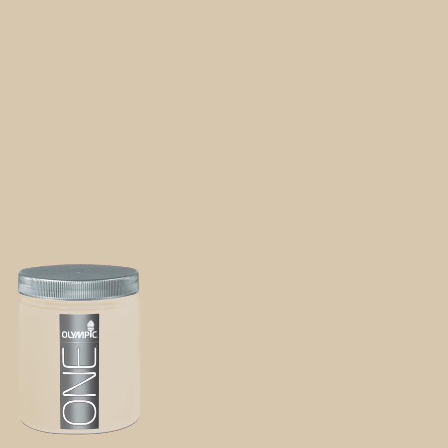 Olympic 8-oz Classic Khaki Interior Satin Paint Sample