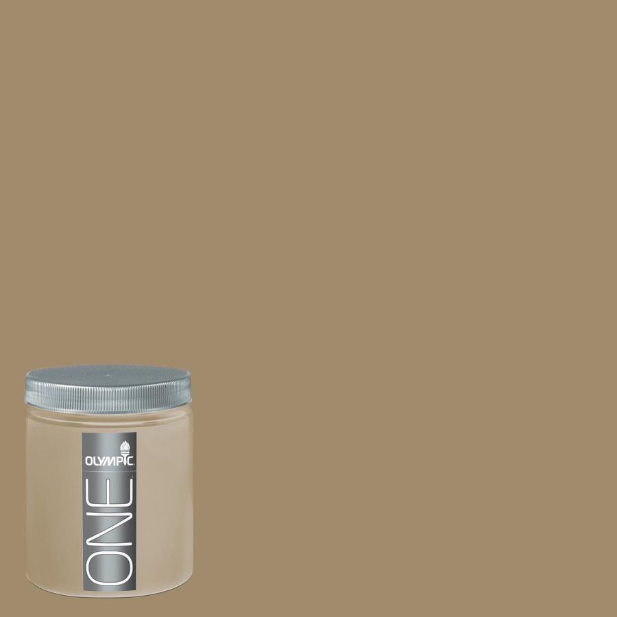 Olympic 8-oz Saddle Soap Interior Satin Paint Sample
