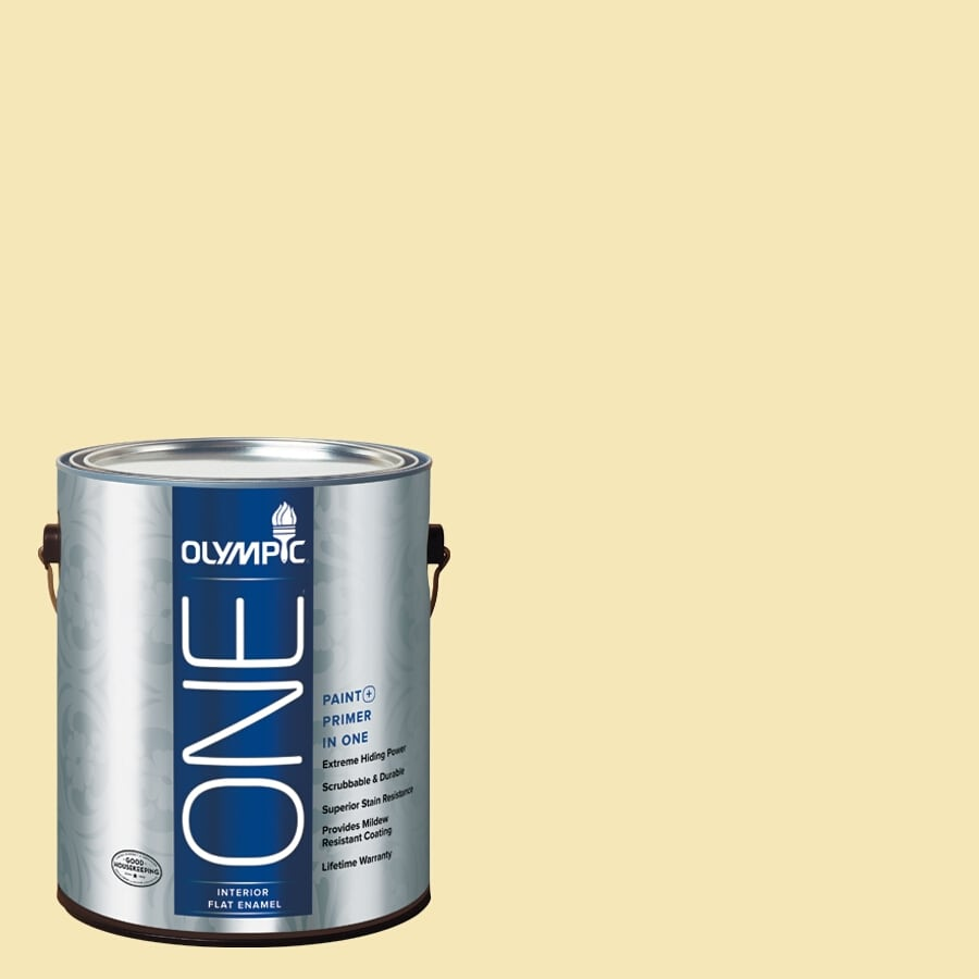 Olympic ONE Butter Flat Latex Interior Paint and Primer In One (Actual Net Contents: 124-fl oz)