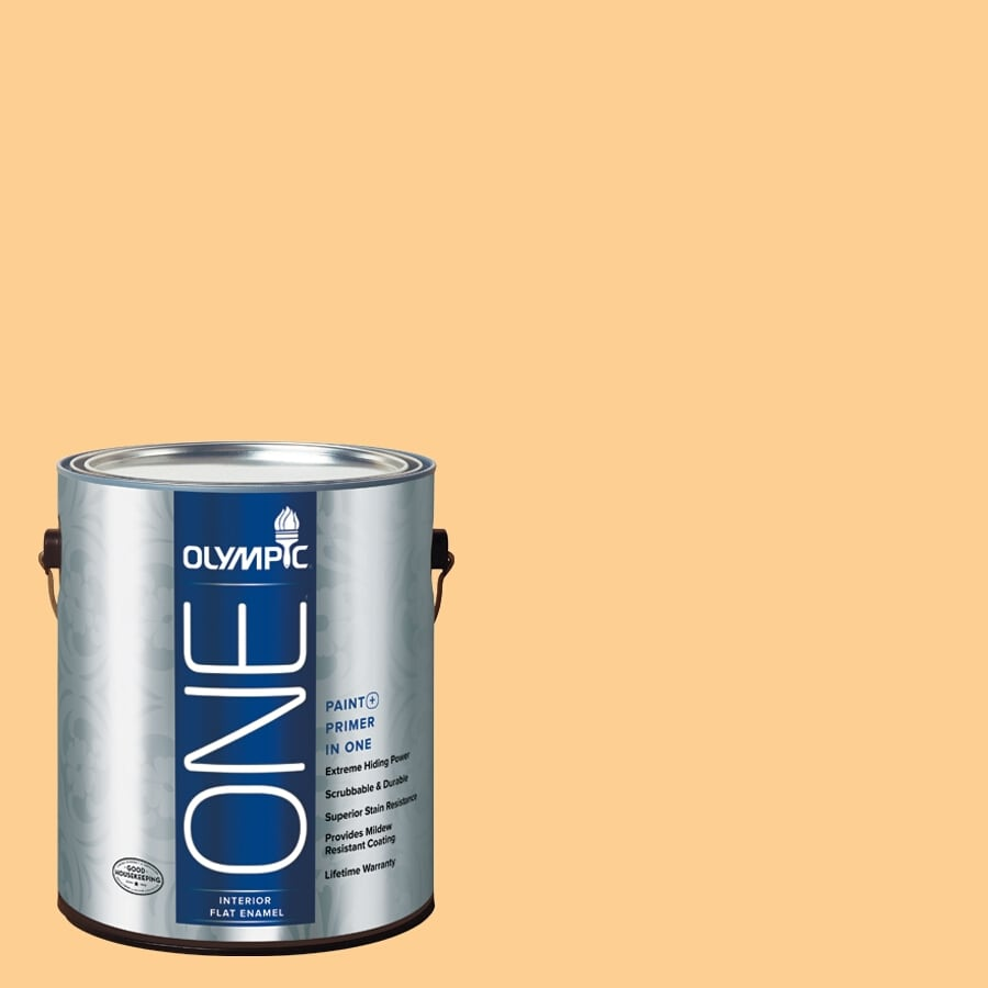Olympic ONE Evening Glow Flat Latex Interior Paint and Primer In One (Actual Net Contents: 124-fl oz)
