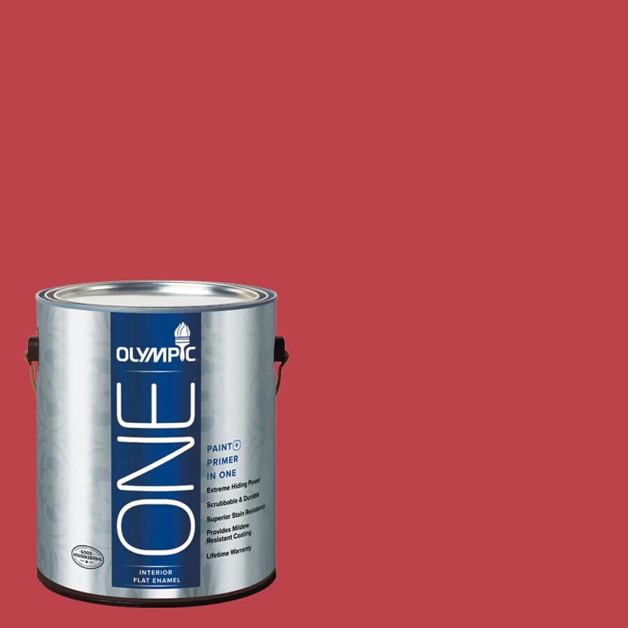 Olympic ONE Calypso Berry Flat Latex Interior Paint and Primer In One (Actual Net Contents: 114-fl oz)