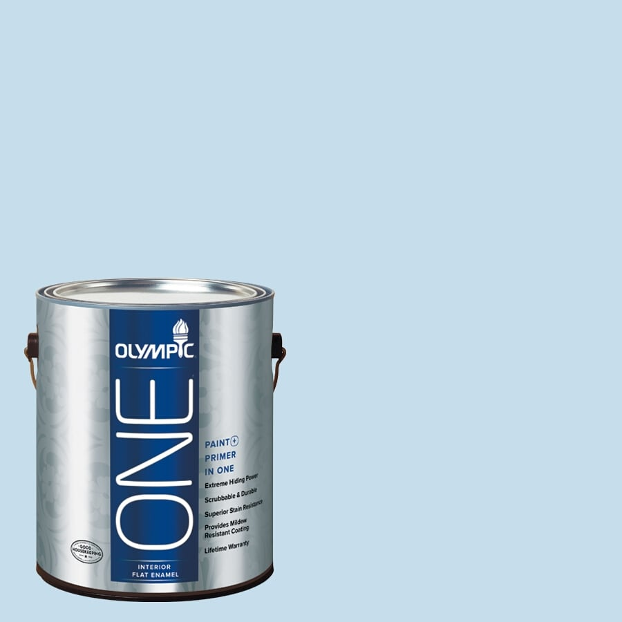 Olympic ONE Blue Booties Flat Latex Interior Paint and Primer In One (Actual Net Contents: 124-fl oz)