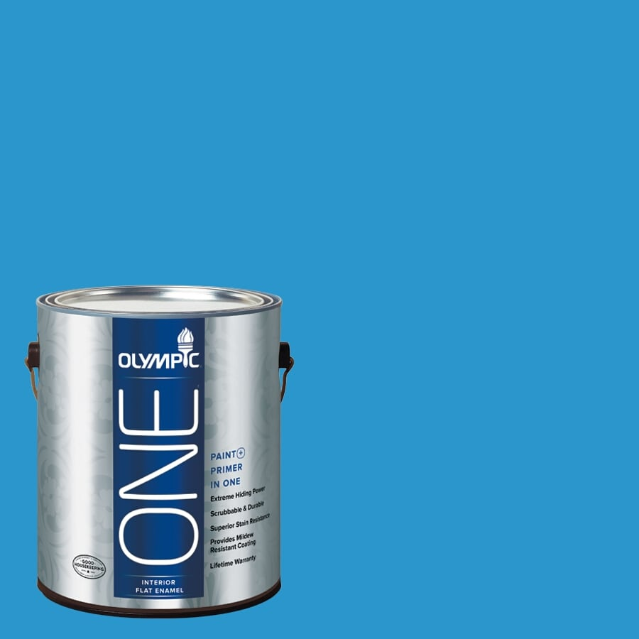 Olympic ONE Magical Merlin Flat Latex Interior Paint and Primer In One (Actual Net Contents: 114-fl oz)