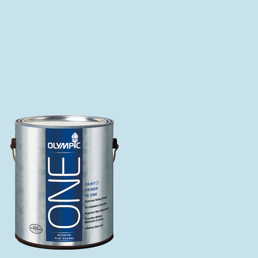 Olympic ONE Fond Farewell Flat Latex Interior Paint and Primer In One (Actual Net Contents: 124-fl oz)