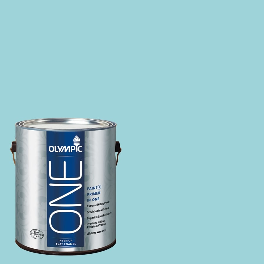 Olympic ONE South Pacific Flat Latex Interior Paint and Primer In One (Actual Net Contents: 124-fl oz)
