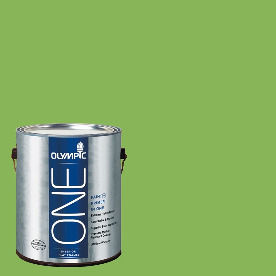 Olympic ONE Green Pear Flat Latex Interior Paint and Primer In One (Actual Net Contents: 114-fl oz)