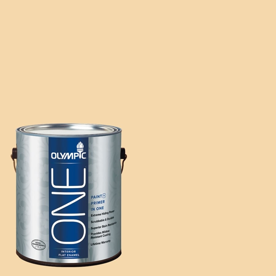 Olympic ONE Dusty Yellow Flat Latex Interior Paint and Primer In One (Actual Net Contents: 124-fl oz)