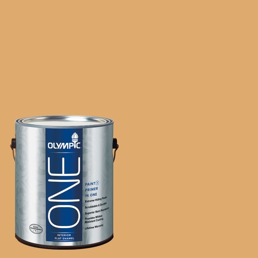 Olympic ONE Lion's Maine Flat Latex Interior Paint and Primer in One (Actual Net Contents: 116-fl oz)