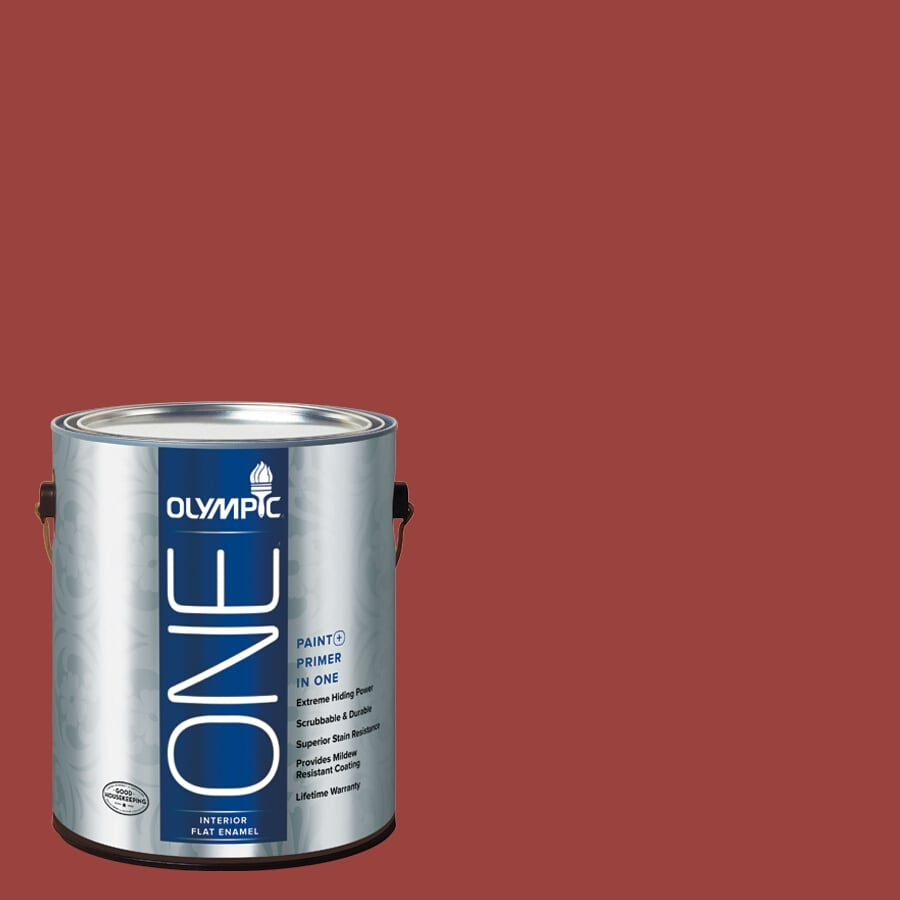 Olympic ONE Burning Bush Flat Latex Interior Paint and Primer In One (Actual Net Contents: 114-fl oz)