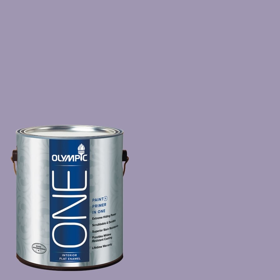 Olympic ONE Mystic Purple Flat Latex Interior Paint and Primer In One (Actual Net Contents: 116-fl oz)