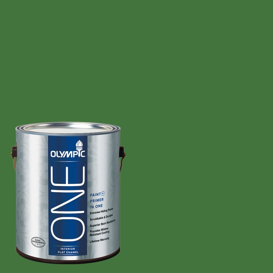 Olympic ONE Bell Pepper Flat Latex Interior Paint and Primer In One (Actual Net Contents: 114-fl oz)