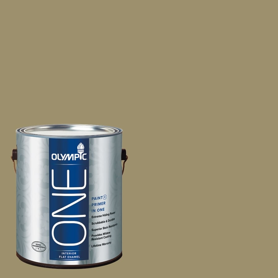 Olympic ONE Sweet Annie Flat Latex Interior Paint and Primer In One (Actual Net Contents: 114-fl oz)