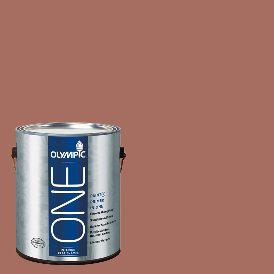 Olympic ONE Amaretto Flat Latex Interior Paint and Primer In One (Actual Net Contents: 116-fl oz)