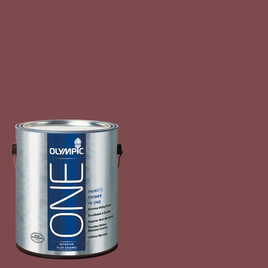 Olympic ONE Sun Dried Tomato Flat Latex Interior Paint and Primer In One (Actual Net Contents: 114-fl oz)