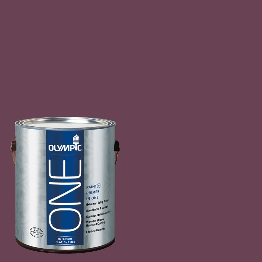 Olympic ONE Chilled Wine Flat Latex Interior Paint and Primer In One (Actual Net Contents: 114-fl oz)