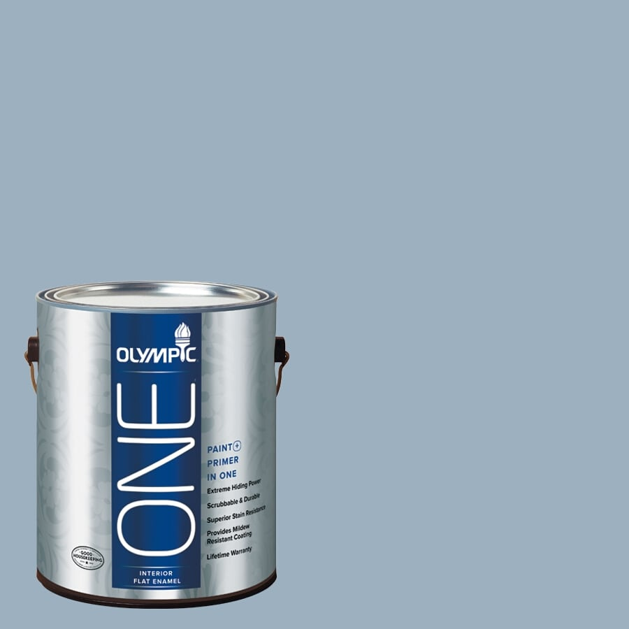 Shop Olympic ONE Sterling Silver Flat Latex Interior Paint and ...