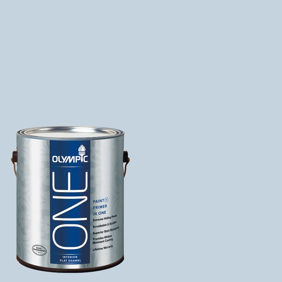 Olympic ONE Stratosphere Flat Latex Interior Paint and Primer In One (Actual Net Contents: 124-fl oz)