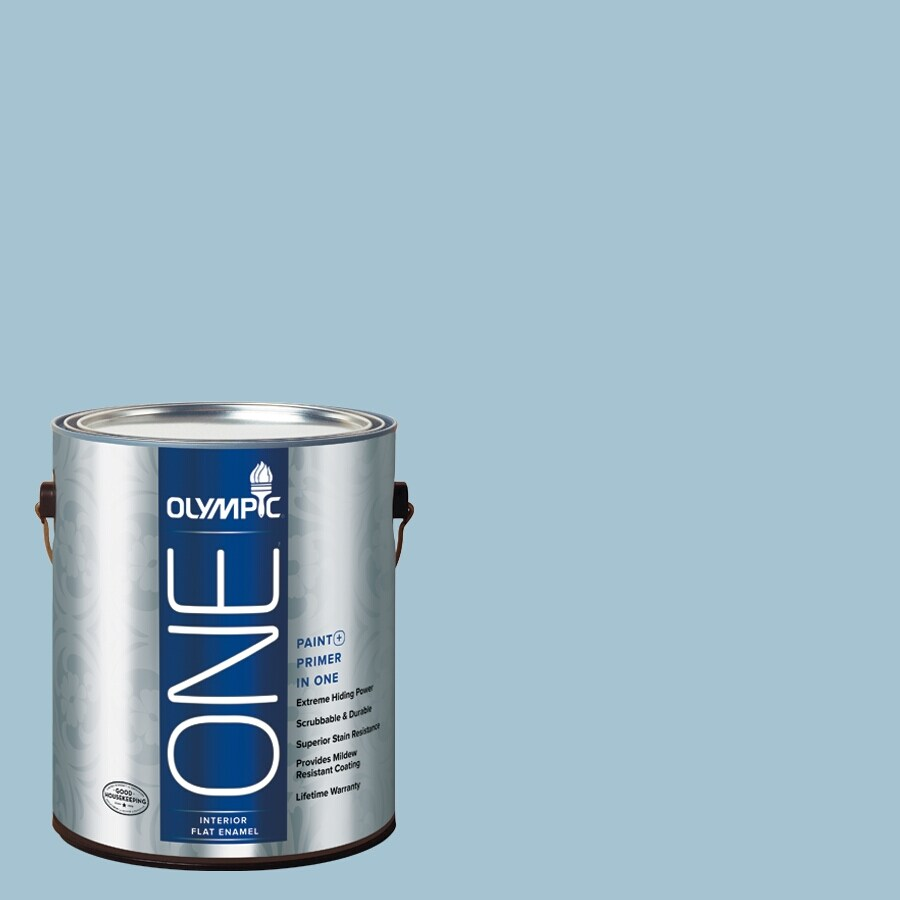 Olympic ONE Souvenir Flat Latex Interior Paint and Primer In One (Actual Net Contents: 124-fl oz)