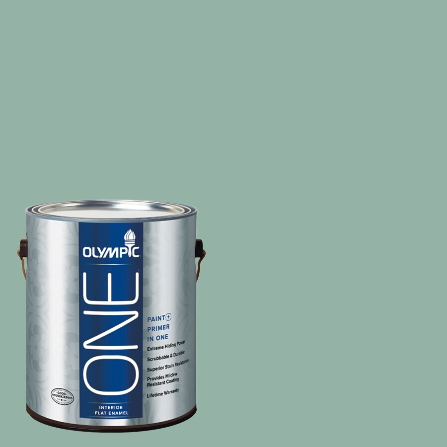 Olympic ONE Early Spring Flat Latex Interior Paint and Primer In One (Actual Net Contents: 116-fl oz)