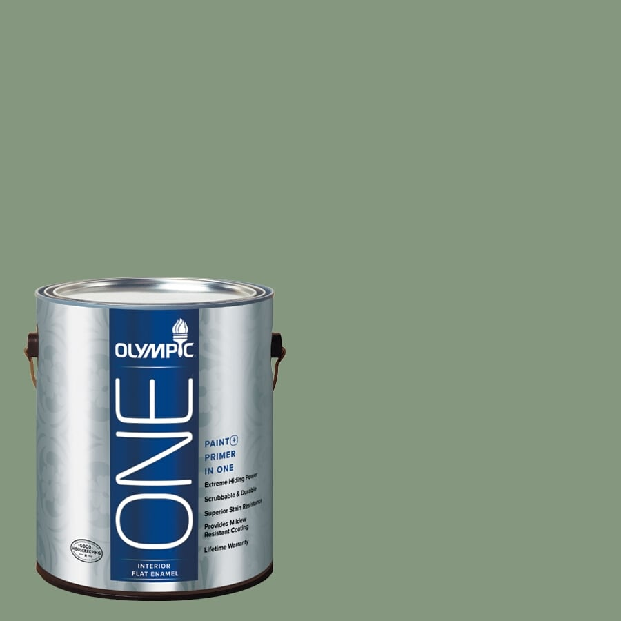 Olympic ONE Mesa Verde Flat Latex Interior Paint and Primer In One (Actual Net Contents: 116-fl oz)