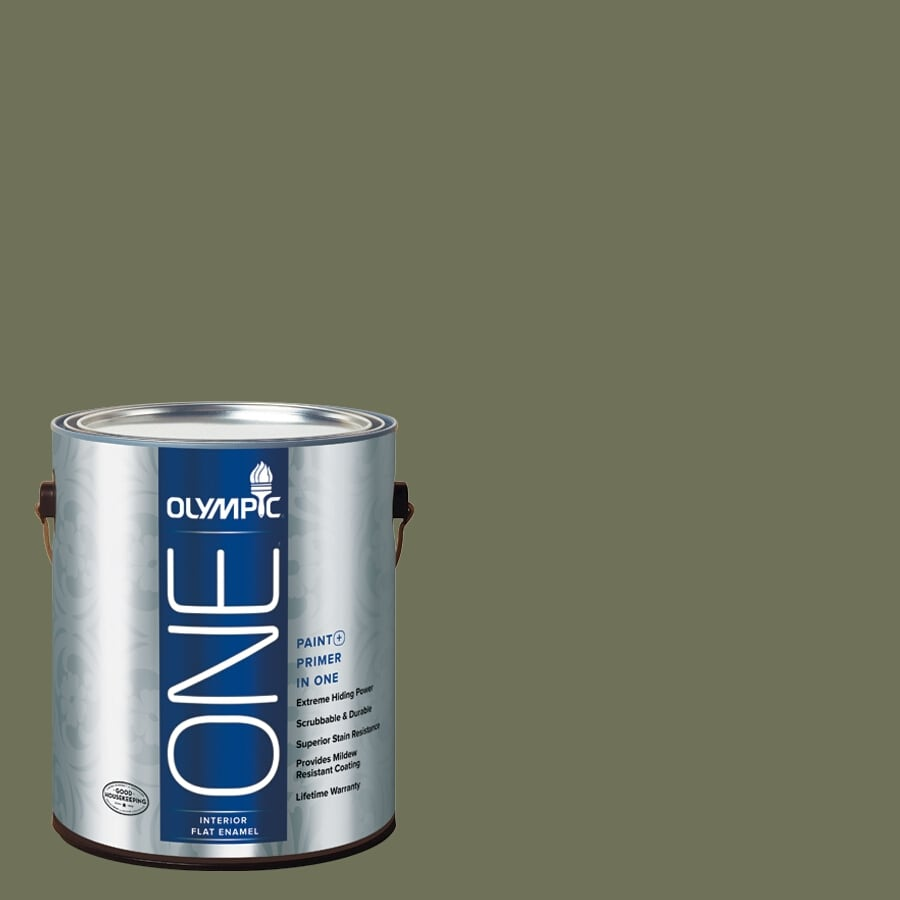 Olympic ONE Dark Sage Flat Latex Interior Paint and Primer In One (Actual Net Contents: 114-fl oz)