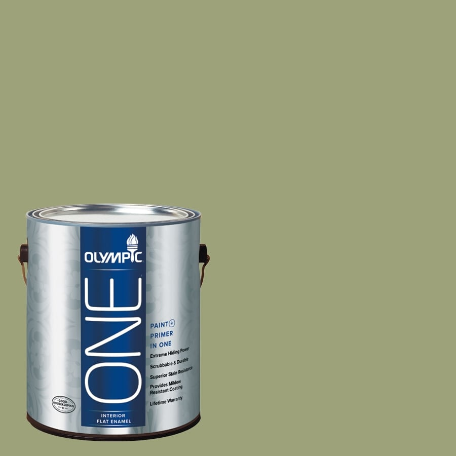 Olympic ONE Guacamole Flat Latex Interior Paint and Primer In One (Actual Net Contents: 116-fl oz)