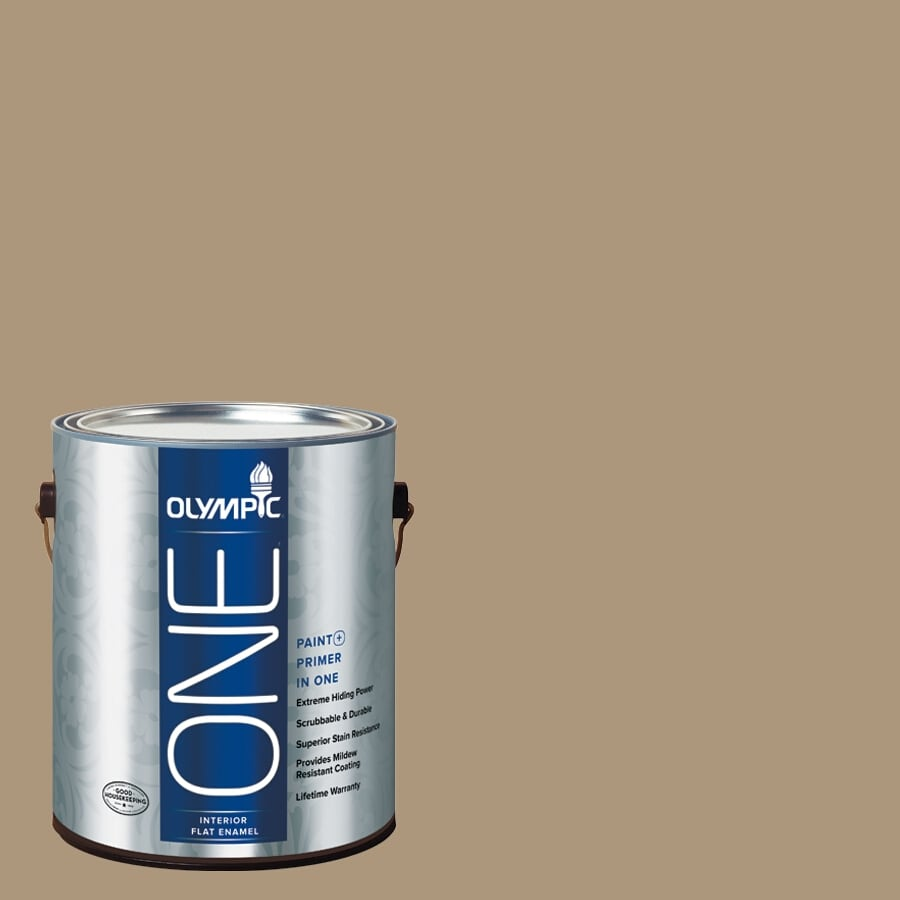 Olympic ONE Stony Creek Flat Latex Interior Paint and Primer In One (Actual Net Contents: 116-fl oz)