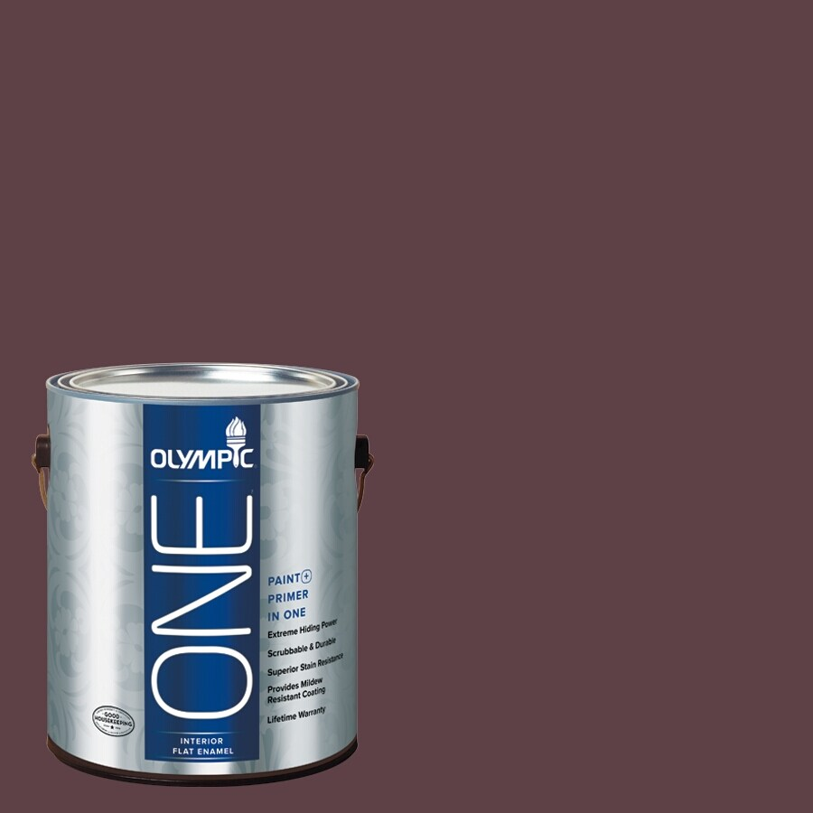 Olympic ONE Gooseberry Flat Latex Interior Paint and Primer In One (Actual Net Contents: 114-fl oz)