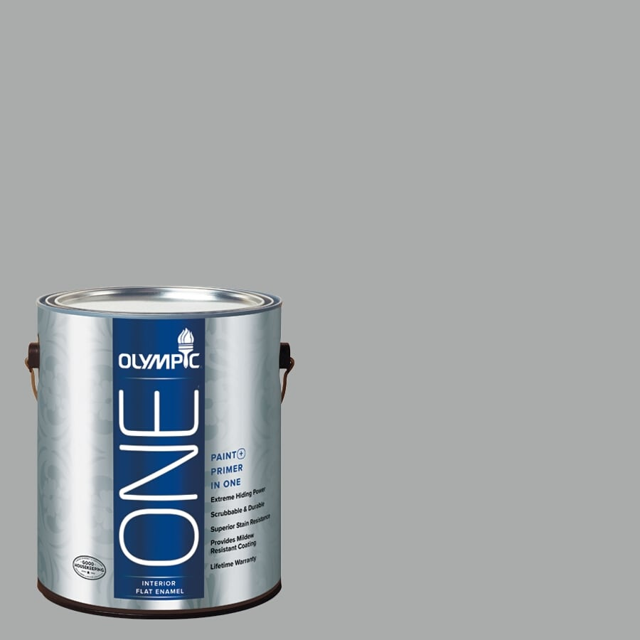 Olympic ONE FlagstONE Flat Latex Interior Paint and Primer In One (Actual Net Contents: 124-fl oz)