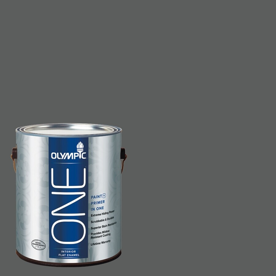 Olympic ONE Knight's Armor Flat Latex Interior Paint and Primer in One (Actual Net Contents: 114-fl oz)