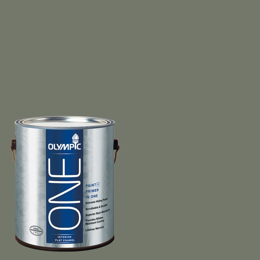 Olympic ONE Thyme Green Flat Latex Interior Paint and Primer In One (Actual Net Contents: 114-fl oz)