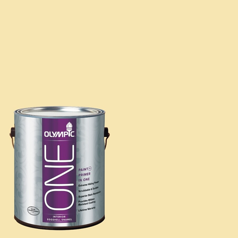 Olympic ONE Sunbeam Eggshell Latex Interior Paint and Primer In One (Actual Net Contents: 124-fl oz)