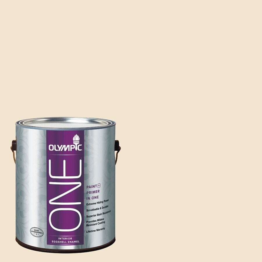 Olympic ONE Vanilla Wafer Eggshell Latex Interior Paint and Primer In One (Actual Net Contents: 124-fl oz)