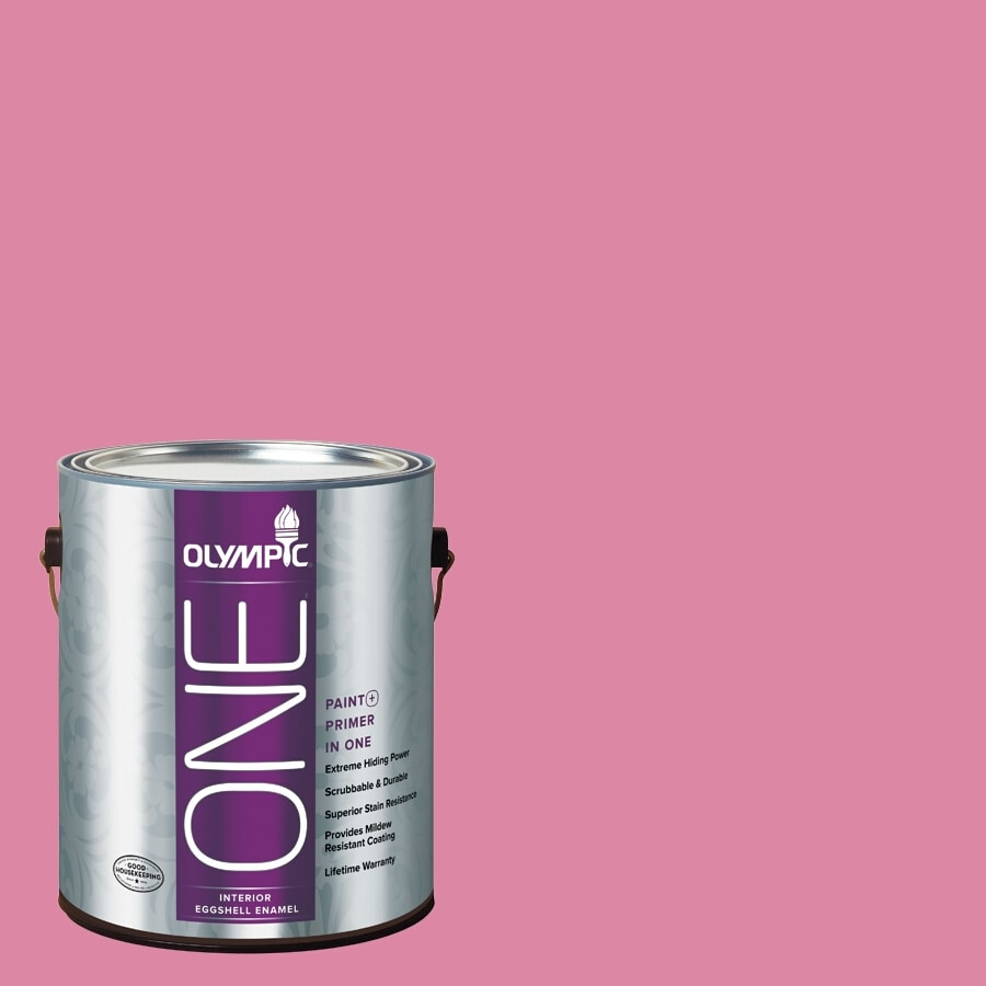 Olympic ONE Rose Glory Eggshell Latex Interior Paint and Primer In One (Actual Net Contents: 116-fl oz)