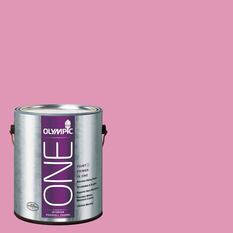 Olympic ONE Muted Fuchsia Eggshell Latex Interior Paint and Primer In One (Actual Net Contents: 116-fl oz)