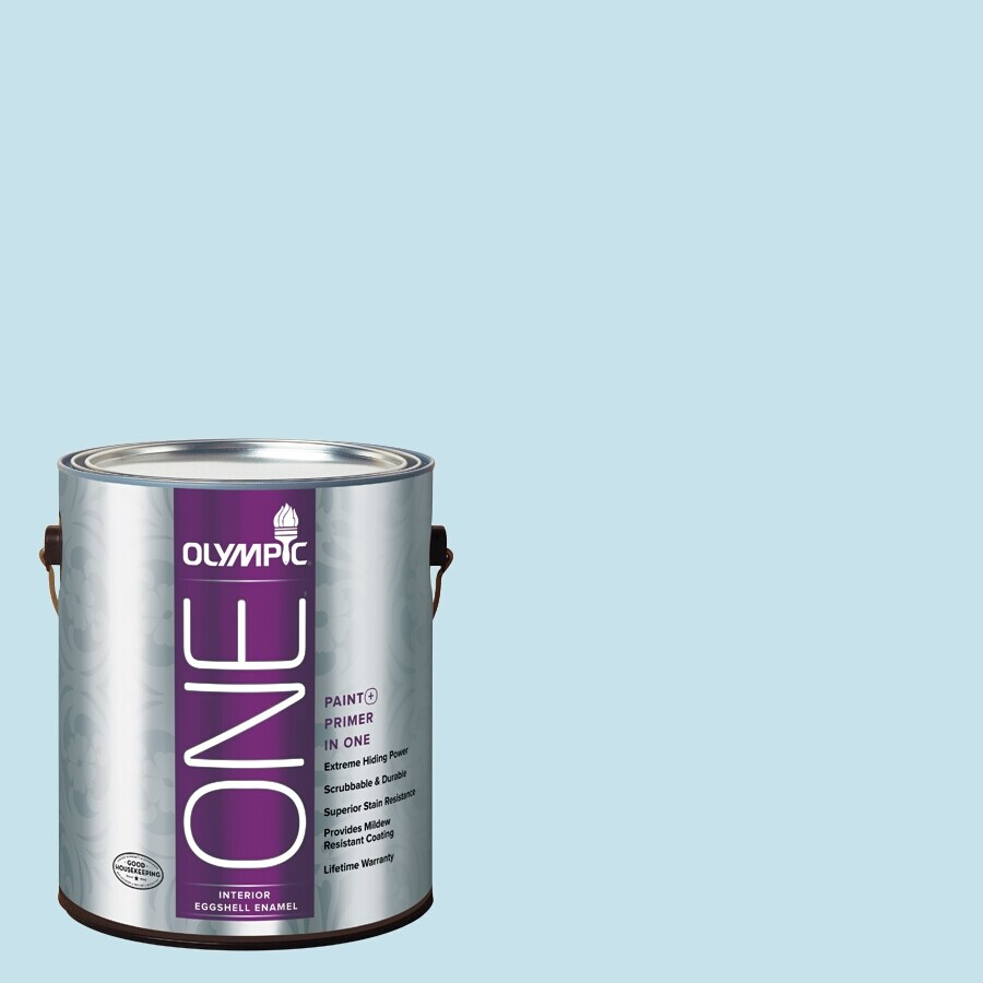 Olympic ONE Fond Farewell Eggshell Latex Interior Paint and Primer In One (Actual Net Contents: 124-fl oz)