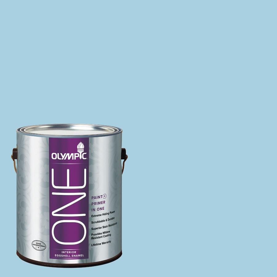 Olympic ONE Spring Water-Basedfall Eggshell Latex Interior Paint and Primer In One (Actual Net Contents: 124-fl oz)